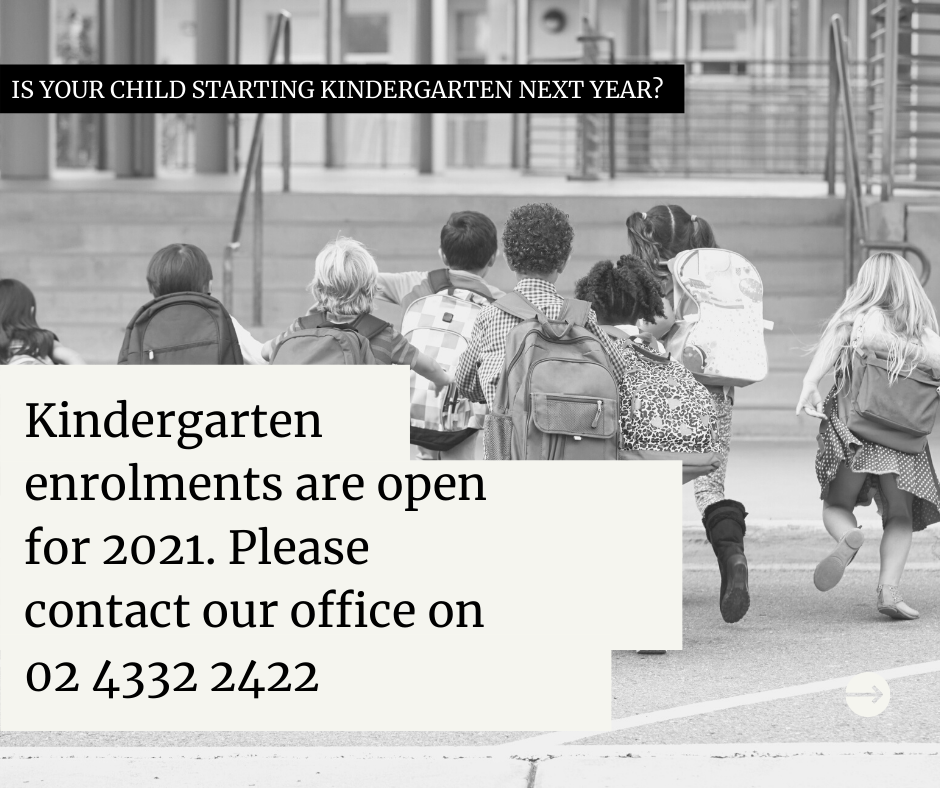Kindergarten Enrolments are now open for 2021!